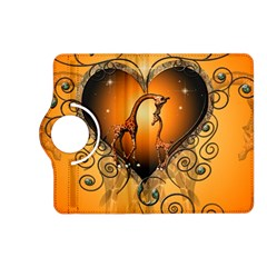 Funny Cute Giraffe With Your Child In A Heart Kindle Fire Hd (2013) Flip 360 Case by FantasyWorld7