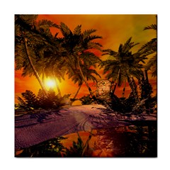 Wonderful Sunset In  A Fantasy World Tile Coasters by FantasyWorld7