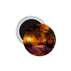 Wonderful Sunset In  A Fantasy World 1 75  Magnets by FantasyWorld7