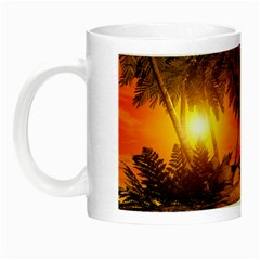 Wonderful Sunset In  A Fantasy World Night Luminous Mugs by FantasyWorld7