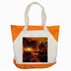 Wonderful Sunset In  A Fantasy World Accent Tote Bag  by FantasyWorld7