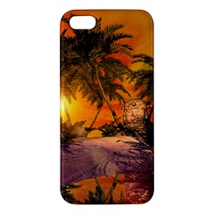 Wonderful Sunset In  A Fantasy World Iphone 5s Premium Hardshell Case by FantasyWorld7