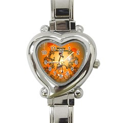Funny, Cute Christmas Giraffe Heart Italian Charm Watch by FantasyWorld7