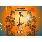 Funny, Cute Christmas Giraffe I Love You 3D Greeting Card (7x5)  Front