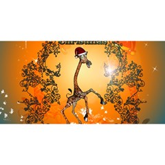 Funny, Cute Christmas Giraffe You Are Invited 3d Greeting Card (8x4)