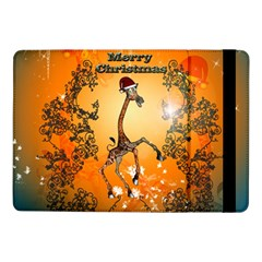 Funny, Cute Christmas Giraffe Samsung Galaxy Tab Pro 10 1  Flip Case by FantasyWorld7