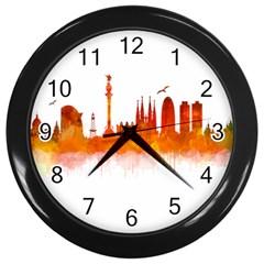 Barcelona 02 Wall Clocks (Black) by hqphoto