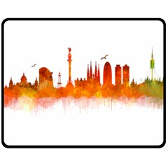 Barcelona 02 Fleece Blanket (Medium)  by hqphoto