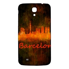 Barcelona City Dark Watercolor Skyline Samsung Galaxy Mega I9200 Hardshell Back Case by hqphoto