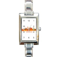 Barcelona City Art Rectangle Italian Charm Watches by hqphoto