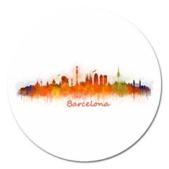 Barcelona City Art Magnet 5  (round) by hqphoto