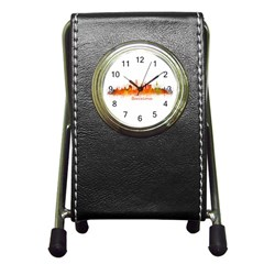 Barcelona City Art Pen Holder Desk Clocks by hqphoto