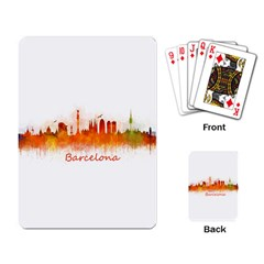 Barcelona City Art Playing Card by hqphoto
