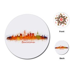 Barcelona City Art Playing Cards (round)  by hqphoto