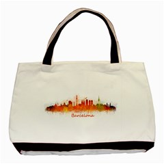 Barcelona City Art Basic Tote Bag (two Sides)  by hqphoto