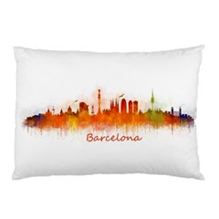Barcelona City Art Pillow Cases by hqphoto