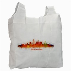 Barcelona City Art Recycle Bag (one Side) by hqphoto