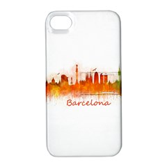 Barcelona City Art Apple Iphone 4/4s Hardshell Case With Stand by hqphoto