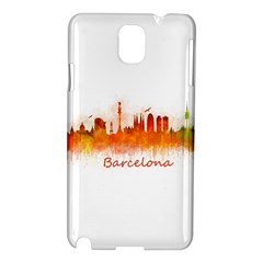 Barcelona City Art Samsung Galaxy Note 3 N9005 Hardshell Case by hqphoto