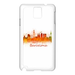 Barcelona City Art Samsung Galaxy Note 3 N9005 Case (white) by hqphoto