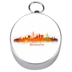 Barcelona City Art Silver Compasses by hqphoto