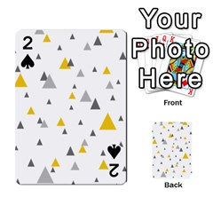Pastel Random Triangles Modern Pattern Playing Cards 54 Designs  by Dushan
