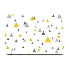 Pastel Random Triangles Modern Pattern Plate Mats by Dushan