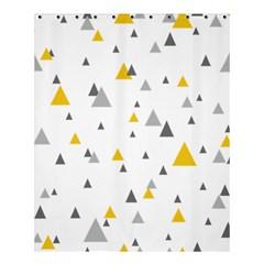 Pastel Random Triangles Modern Pattern Shower Curtain 60  X 72  (medium)  by Dushan