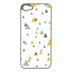 Pastel Random Triangles Modern Pattern Apple Iphone 5 Case (silver) by Dushan