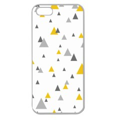 Pastel Random Triangles Modern Pattern Apple Seamless Iphone 5 Case (clear)