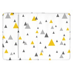 Pastel Random Triangles Modern Pattern Samsung Galaxy Tab 8 9  P7300 Flip Case by Dushan