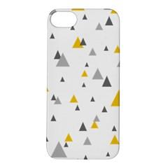 Pastel Random Triangles Modern Pattern Apple Iphone 5s Hardshell Case by Dushan