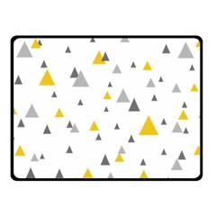 Pastel Random Triangles Modern Pattern Double Sided Fleece Blanket (small)  by Dushan