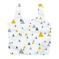 Pastel Random Triangles Modern Pattern Full Print Recycle Bags (l)  by Dushan
