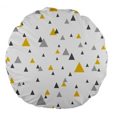 Pastel Random Triangles Modern Pattern Large 18  Premium Flano Round Cushions by Dushan