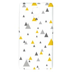 Pastel Random Triangles Modern Pattern Galaxy Note 4 Back Case by Dushan