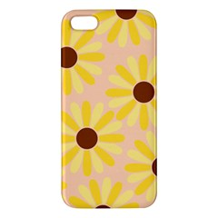 Sunflowers Everywhere Apple Iphone 5 Premium Hardshell Case by CraftyLittleNodes