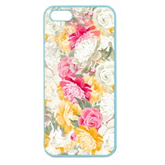 Colorful Floral Collage Apple Seamless Iphone 5 Case (color) by Dushan