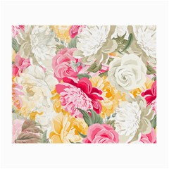 Colorful Floral Collage Small Glasses Cloth (2-Side) by Dushan