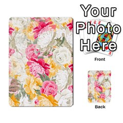 Colorful Floral Collage Multi Purpose Cards (rectangle)