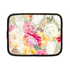 Colorful Floral Collage Netbook Case (small)  by Dushan