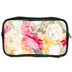 Colorful Floral Collage Toiletries Bags 2 Side by Dushan
