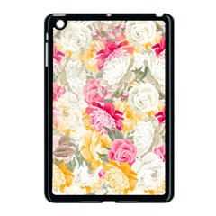 Colorful Floral Collage Apple Ipad Mini Case (black) by Dushan
