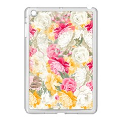 Colorful Floral Collage Apple Ipad Mini Case (white) by Dushan