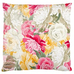 Colorful Floral Collage Large Flano Cushion Cases (two Sides)  by Dushan