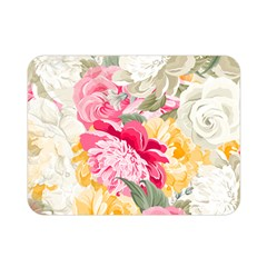 Colorful Floral Collage Double Sided Flano Blanket (mini)  by Dushan