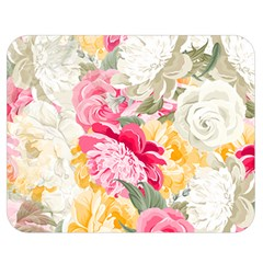 Colorful Floral Collage Double Sided Flano Blanket (medium)  by Dushan