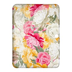 Colorful Floral Collage Samsung Galaxy Tab 4 (10 1 ) Hardshell Case  by Dushan