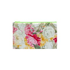 Colorful Floral Collage Cosmetic Bag (xs)