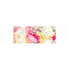 Colorful Floral Collage Satin Scarf (oblong) by Dushan